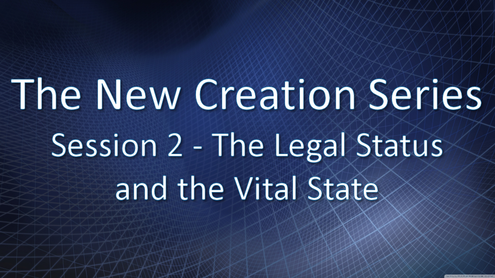 Session 2 - The Legal Status and the Vital State Image